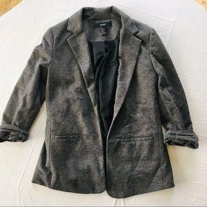 Forever 21 Gray Blazer 3/4 Sleeve